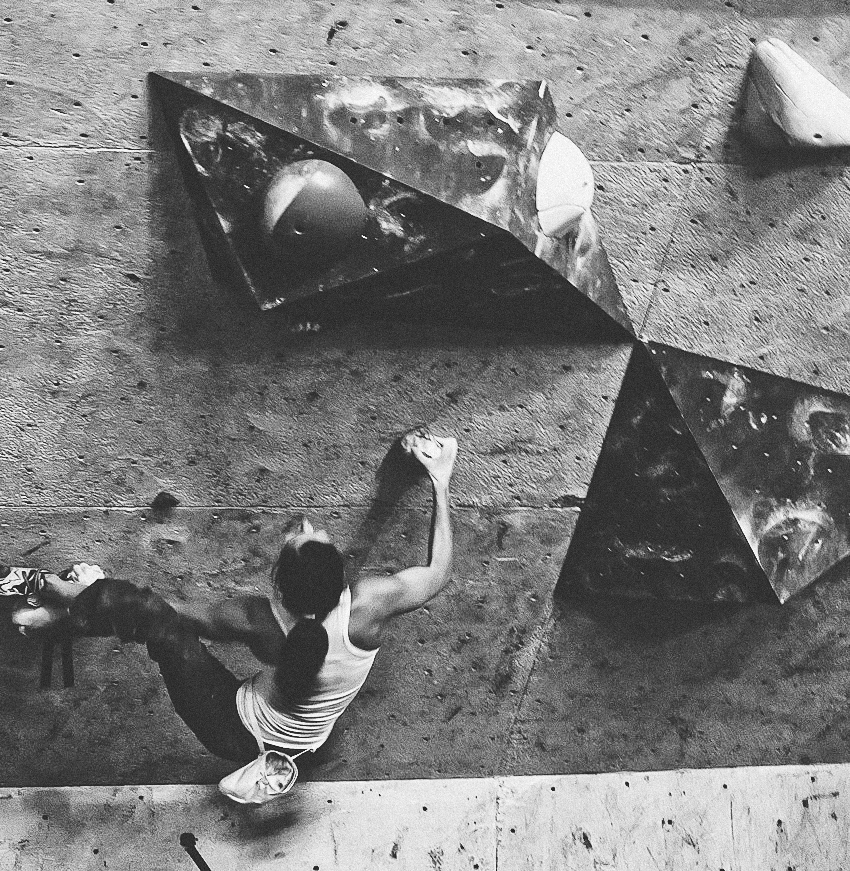 Bouldering at Coyote Rock Gym
