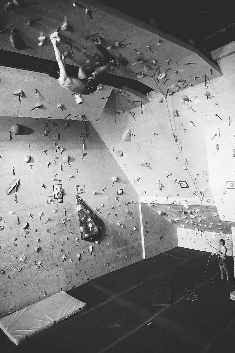 Lead Climbing in the Yellow Room at Coyote Rock Gym